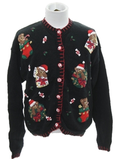 1980's Womens or Girls Bear-riffic Ugly Christmas Sweater