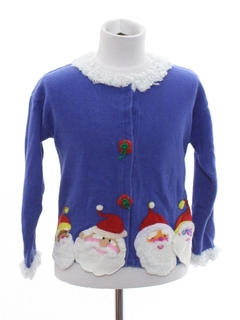1990's Womens/Childs Designer Ugly Christmas Sweater