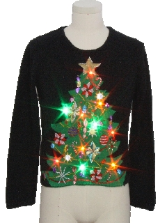 1990's Womens Multicolor Lightup Ugly Christmas Sweater