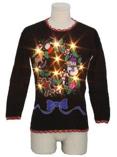 1990's Unisex Ladies or Boys Lightup Ugly Christmas Sweater