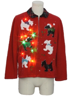 1990's Unisex Multicolor Lightup Dog-gonnit Ugly Christmas Sweater