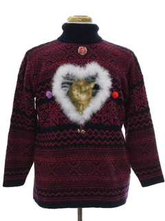1990's Unisex Vintage Catmus Ugly Christmas Sweater