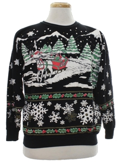 1980's Womens Vintage Ugly Christmas Sweatshirt