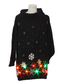 1980's Unisex Multicolor Lightup Ugly Christmas Sweater