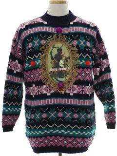1980's Unisex Krampus Vintage Ugly Christmas Sweater