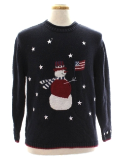 1980's Unisex Patriotic Ugly Christmas Sweater