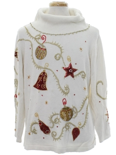 1990's Womens Ugly Christmas Cocktail Sweater