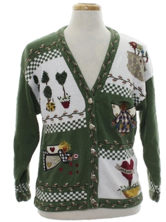 1990's Unisex Country Kitsch Ugly Christmas Cardigan Sweater