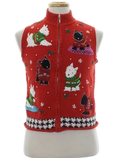 1980's Unisex Dog-Gonnit Ugly Christmas Sweater Vest