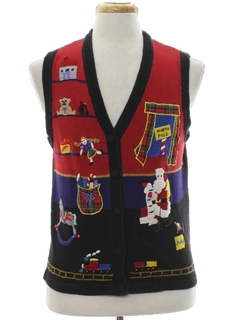 1980's Unisex Ugly Christmas Sweater Vest