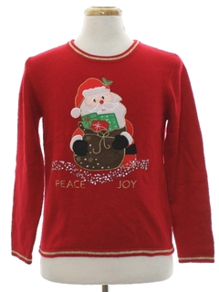 1980's Unisex Ladies or Boys Ugly Christmas Sweater