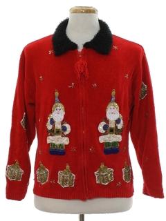 1980's Unisex Designer Ugly Christmas Sweater