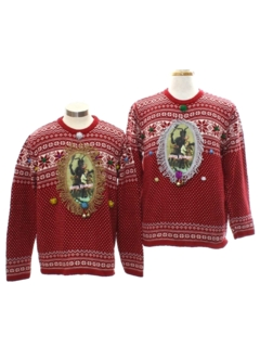 1980's Unisex Krampus Ugly Christmas Matching Set of Sweaters