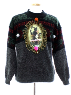 1990's Mens Vintage Krampus Ugly Christmas Sweater