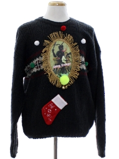 1980's Mens Krampus Ugly Christmas Sweater