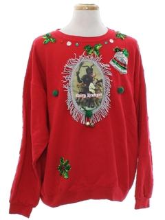 1980's Unisex Vintage Krampus Ugly Christmas Sweatshirt