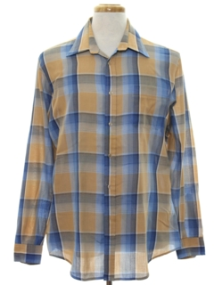 1980's Mens 80s Plaid Shirt