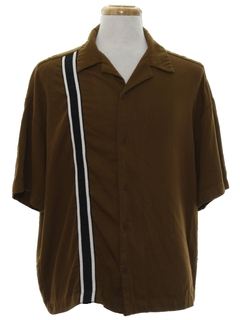 1950's Mens Gabardine Rockabilly Sport Shirt