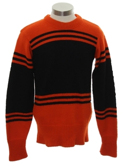 1970's Mens Cheerleader Sweater