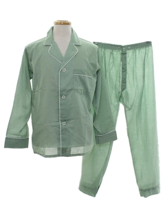 1960's Mens Mod Pajamas