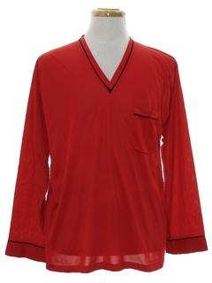 1960's Mens Mod Pajama Shirt
