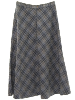 1980's Womens Plaid Skirt