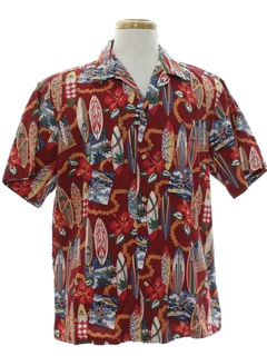 1990's Mens Hawaiian Surf Shirt