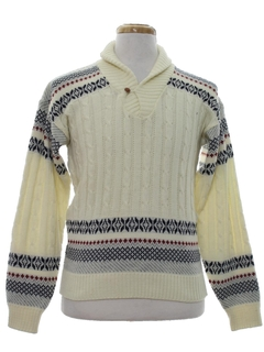 1970's Mens Nordic Style Ski Sweater