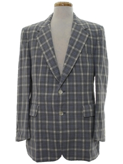 1970's Mens Plaid Sport Coat Blazer Jacket