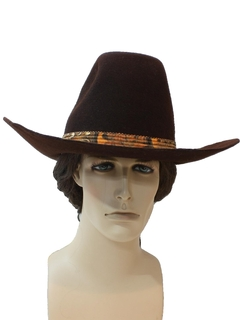 1970's Mens Accessories - Western Cowboy Hat