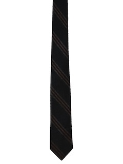 1960's Mens Diagonal Striped Rockabilly Skinny Necktie