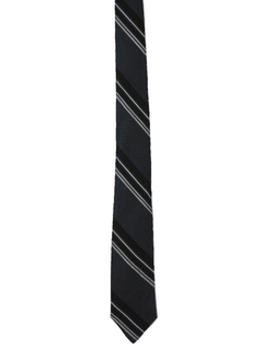 1960's Mens Diagonal Striped Skinny Necktie