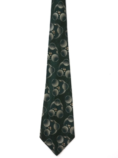 1930's Mens Art Deco Abstract Stitched Wide Necktie