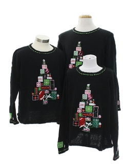 1980's Unisex Ugly Christmas Matching Set of Three Sweaters