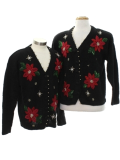 1980's Unisex Ugly Christmas Matching Set of Cardigan Sweaters