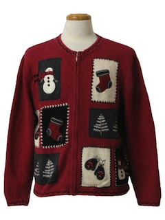 1980's Unisex Country Kitsch Style Ugly Christmas Sweater
