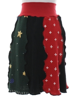 1980's Womens Hand Made Ugly Christmas Skirt