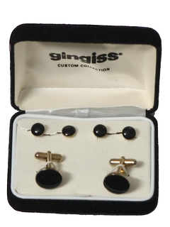 1980's Mens Accessories - Cufflinks and Studs