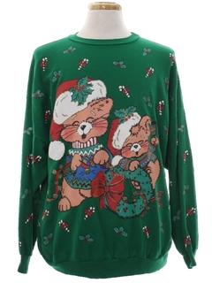 1980's Unisex Vintage Cat-Tastic Ugly Christmas Sweatshirt