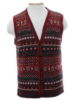 1980's Unisex Snowflake Sweater Vest