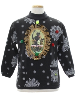 1980's Unisex Krampus Ugly Christmas Sweatshirt
