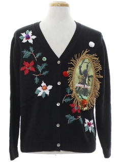 1980's Unisex Krampus Ugly Christmas Cardigan Sweater