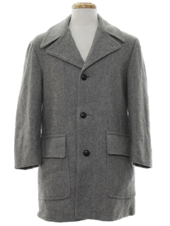 1970's Mens Mod Wool Car Coat Jacket