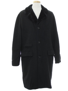 1960's Mens Mod Long Wool Overcoat Car Coat