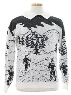 1980's Unisex Snowflake Ski Sweater