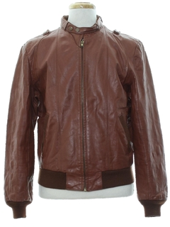 1980's Mens Cafe Racer Style Leather Jacket