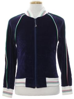 1980's Womens Velveteen Track Jacket