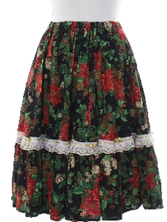1970's Womens Christmas Skirt