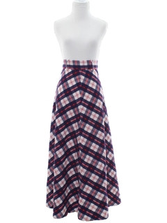 1960's Womens Maxi Skirt