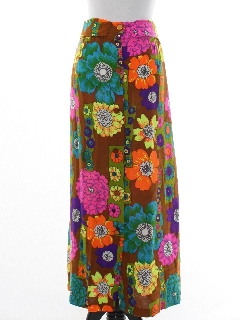 1970's Womens Pow-Flower Hippie Skirt
